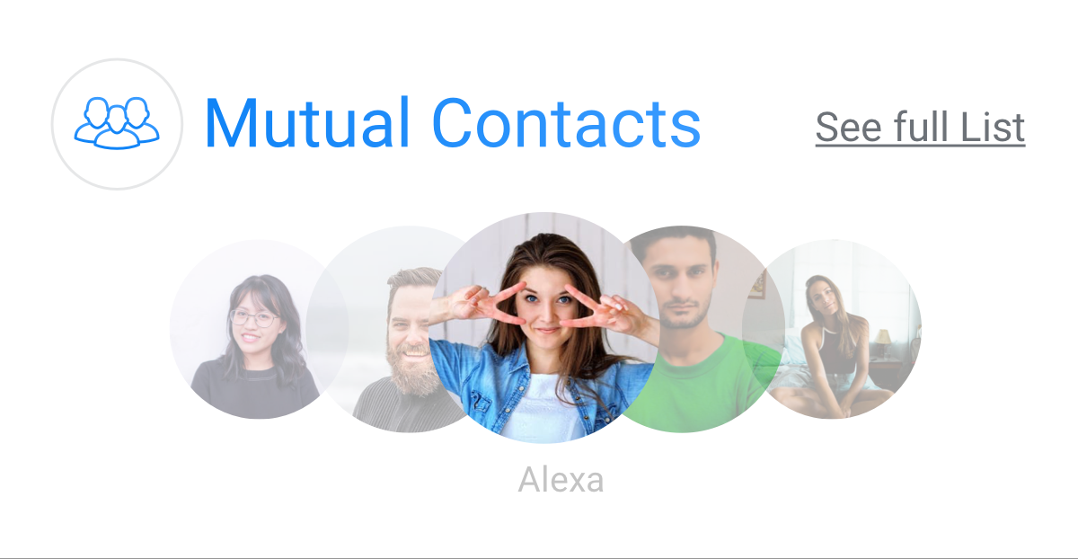mutual contacts